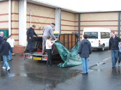 Packing the Lichfield mobile belfry