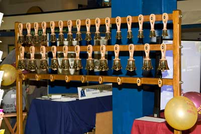 Handbells on Taylor's stand